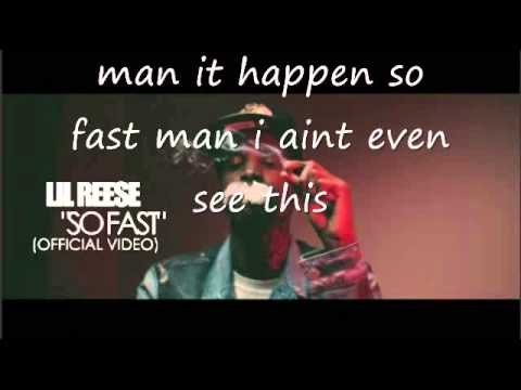 LIL REESE - SO FAST lyrics (official video)