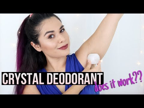 NATURAL DEODORANT THAT WORKS (finally) Crystal Mineral Deodorant Stone Review