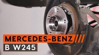 Jak wymienić Łożysko piasty koła MERCEDES-BENZ B-CLASS (W245) - darmowe wideo online