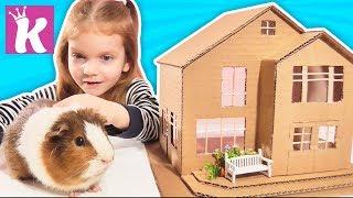СДЕЛАЛИ ДОМИК ДЛЯ ПИТОМЦА ИЗ КАРТОНА СВОИМИ РУКАМИ DIY How to make Amazing House from Cardboard