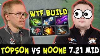 TOPSON vs NOONE on mid — WTF 7.21 Sniper BUILD destroying tryhard OD