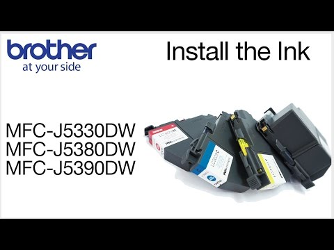 Loading The Ink In The Brother MFC-J5830DW