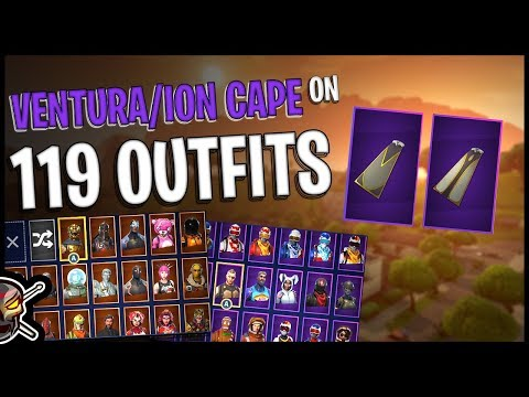 Ventura/Venturion Cape Back Bling on 119 Outfits - Fortnite Cosmetics