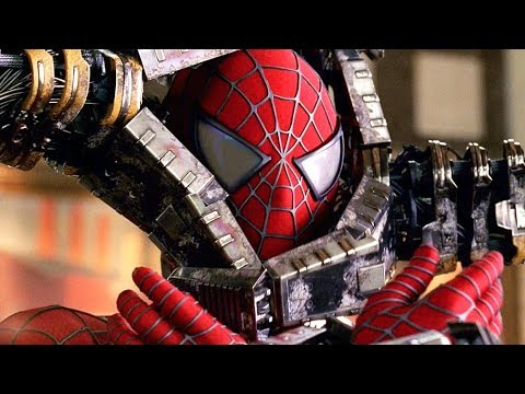 spiderman vs doctor octopus bank fight scene spider