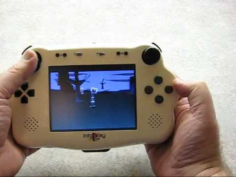 intoplay playstation 1 handheld portable youtube