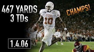 Vince Young 2005 National Championship Highlights | 467 Yards, 3 TDs | 1.4.06 | Rose Bowl