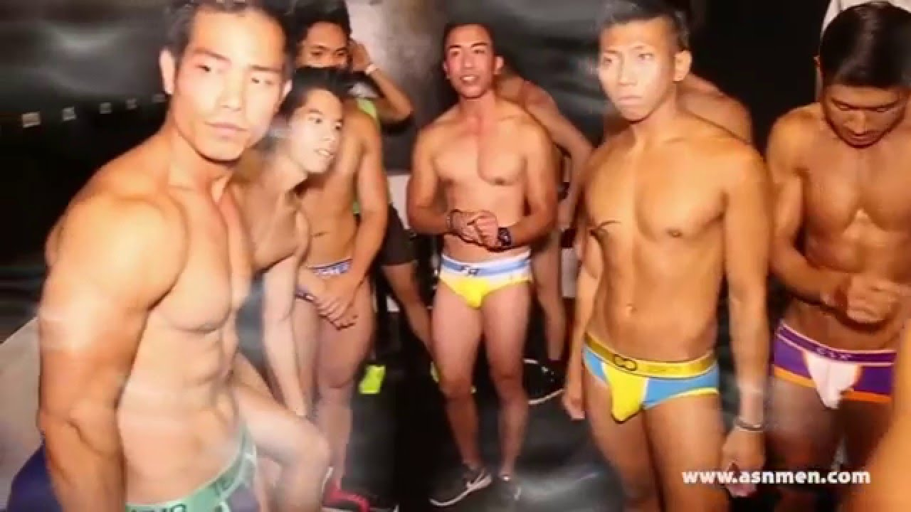 Asian mens underwear show