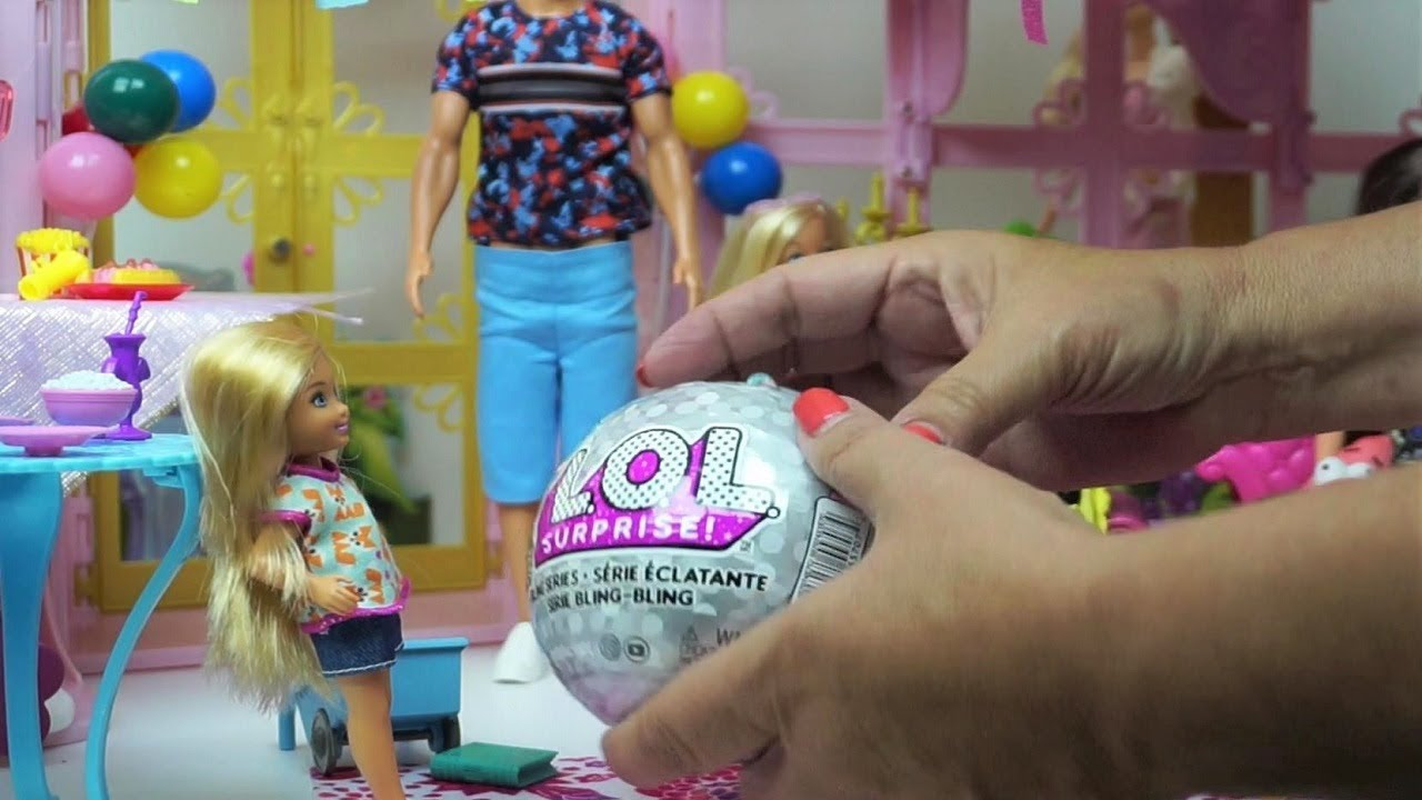 Barbie Doll Chelsea Birthday Party Presents - LOL Blind Open