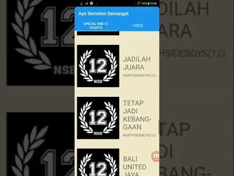 [DEMO] Bali United Fans Chants App : Fans Bali United Wajib Download