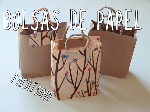 2ec76d388 Cómo hacer una bolsa de papel ¡Muy fácil! - YouTube