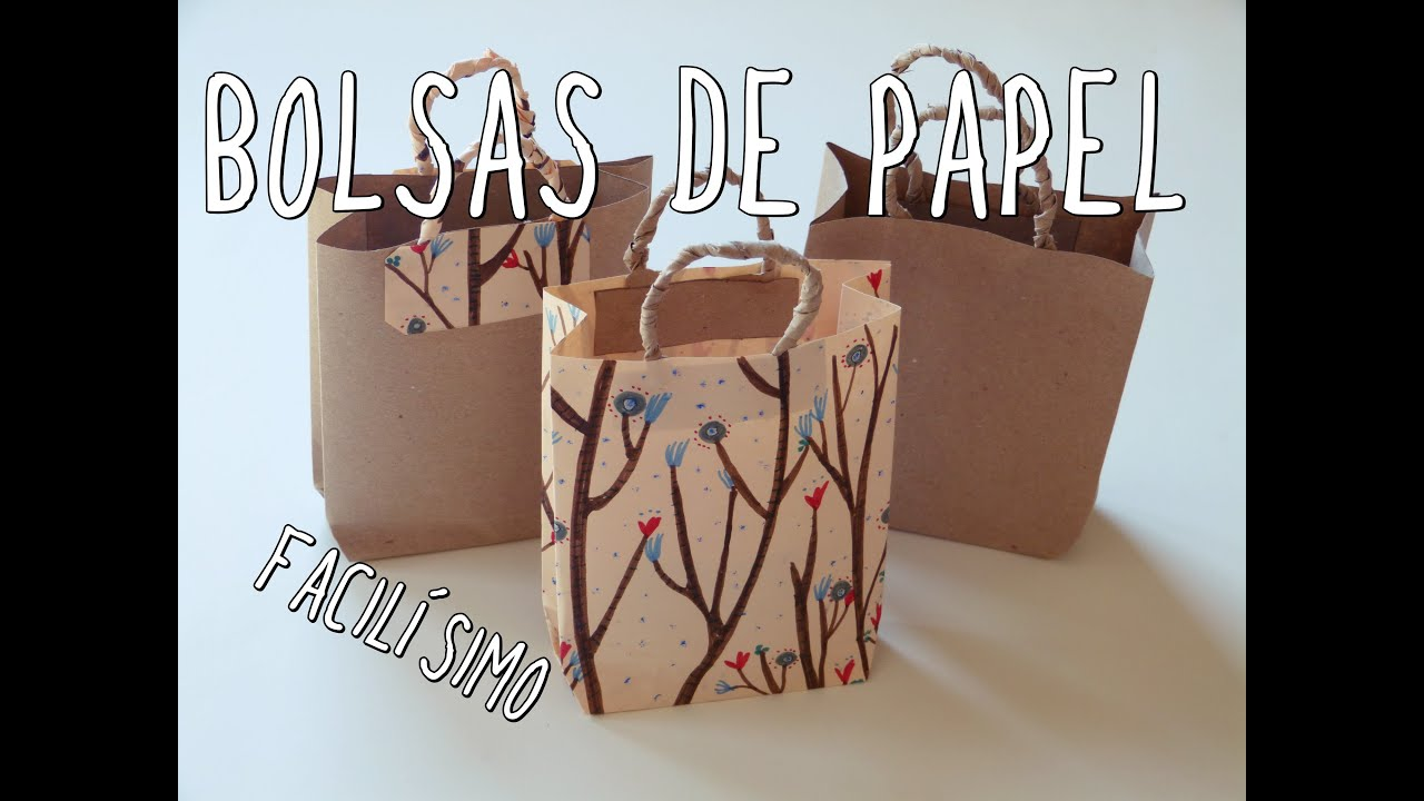 7de4fe8ab Cómo hacer una bolsa de papel ¡Muy fácil! - YouTube