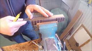 making the classical guitar bridge