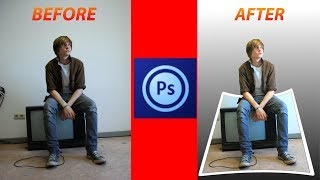 how to make a 3d effect in Photoshop touch/3d pop out photo effect in android ps touch tutorial