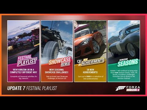 "Forza Horizon 4 ""Season 7 Update"" * New Cars / Festival Playlist / Fixes / Archievements thumbnail"