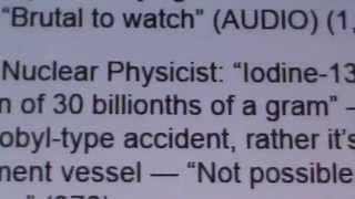 US NUKE PHYSICIST: IODINE 131, PLUTONIUM 239, STRONTIUM LETHAL IF INGESTION