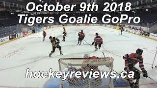 October 8th 2018 Tigers Hockey Goalie GoPro
