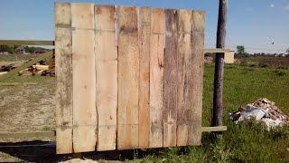 Строительство деревянного забора(Строительство деревянного забора в слайдах. Предлагаю посмотреть процесс строительства забора из необрез..., 2015-06-04T21:47:44.000Z)