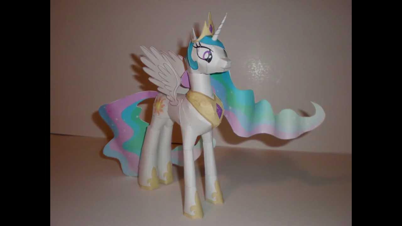 Papercraft Papercraft Princess Celestia Time-Lapse