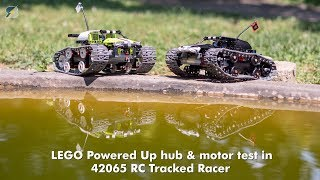 LEGO Powered Up Hub & motor test in 42065 RC Tracked Racer