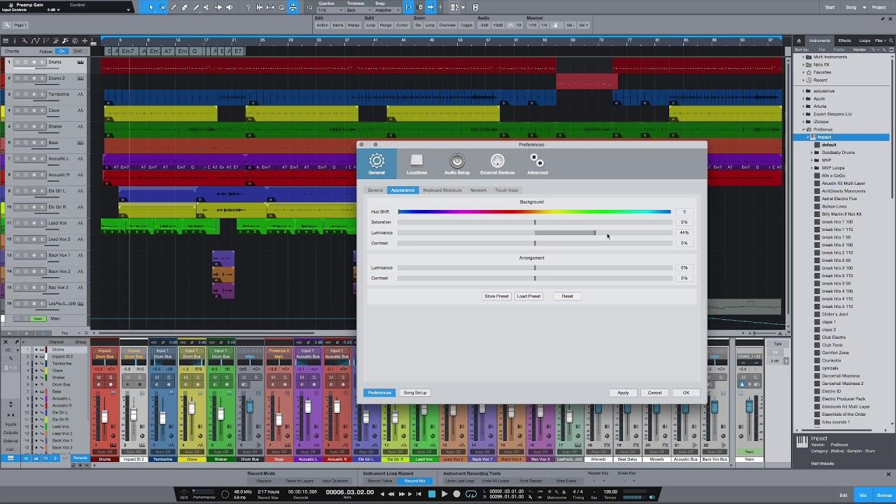 presonus studio one version history