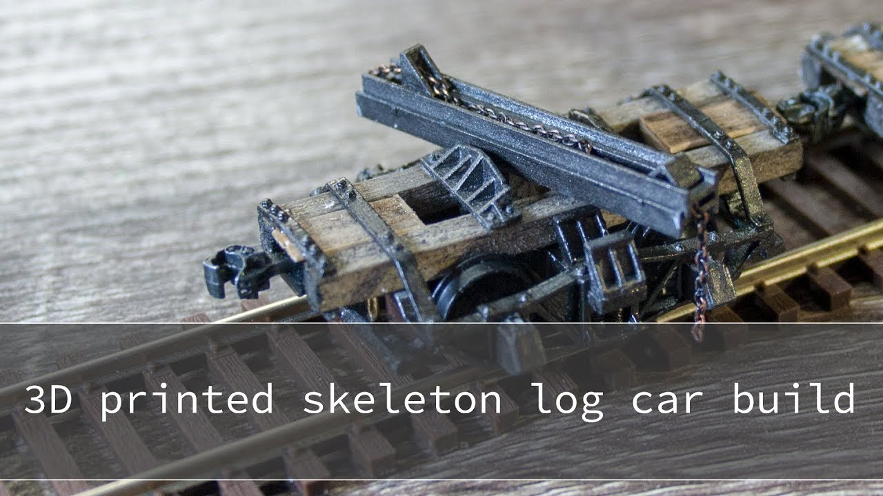 Build A Car From Scratch >> 3d printed and highly detailed scratch build skeleton log car in HO scale - YouTube