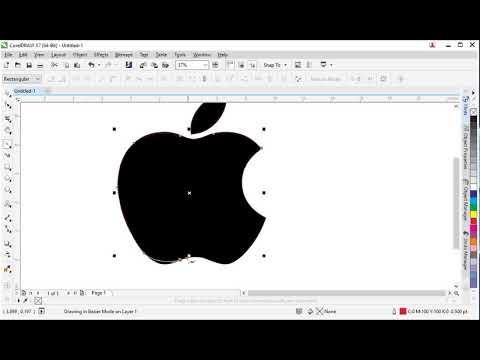 Corel Draw X7 – vẽ logo Apple