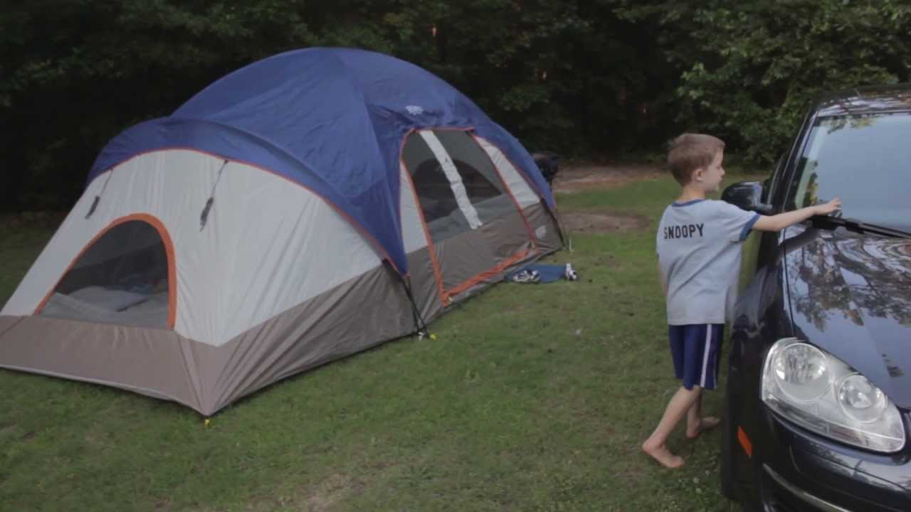 & Wenzel 18 x 10 9-Person Two-Room Family Tent - YouTube