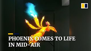 Phoenix comes to life in mid-air with Chinese-made device