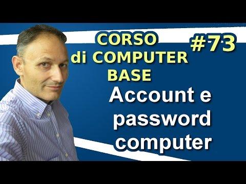 # 73 Account e password del computer - Maggiolina Corso di Computer Base