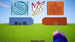Buz Ev Vs Magma Ev !?! Minecraft Yapı Kapışmaları W/minelord