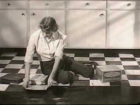 vinyl asbestos tile vat 1950s kentile - youtube