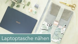 Passgenaue Laptoptasche nähen   Mega Verlosung!