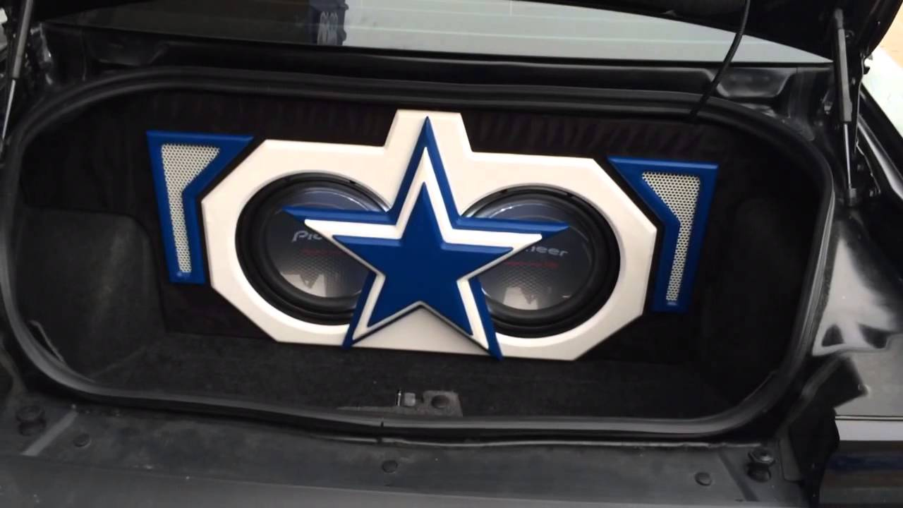 Dallas Cowboys Custom Themed Trunk Build 2012 Dodge
