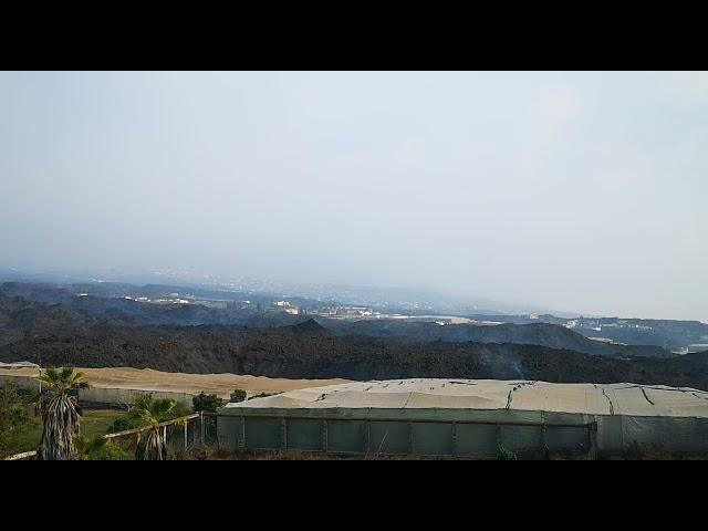 La Lava sigue destrozando el Valle de Aridane en la isla de La Palma