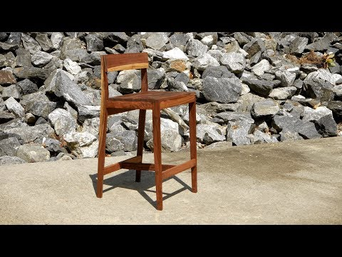 Modern Walnut Bar Stools - How To Build | Woodworking