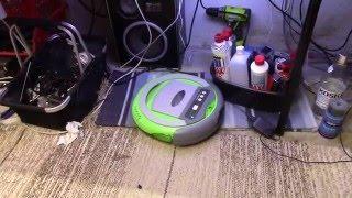 Trash-picked robot vacuum cleaner