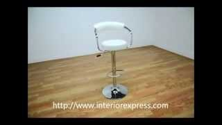 Interiorexpress Omicron Retro  White Adjustable Swivel Bar Stool