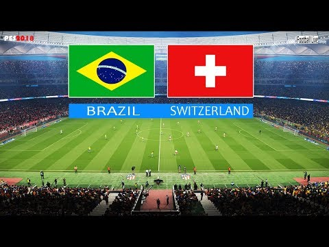 PES 2018 | BRAZIL vs SWITZERLAND | Full Match & Amazing Goals | Brasil x Suíça | Gameplay PC