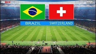 PES 2018   BRAZIL vs SWITZERLAND   Full Match & Amazing Goals   Brasil x Suíça   Gameplay PC