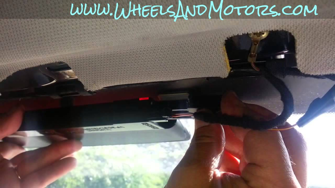How To Replace Central Brake Light  Window Led String  On Audi A6  C6 4f