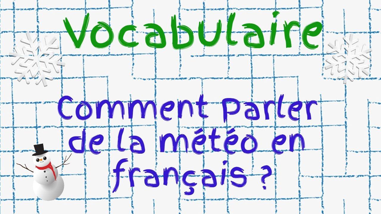 Comment parler de la météo en français   - YouTube 15129536ccb0
