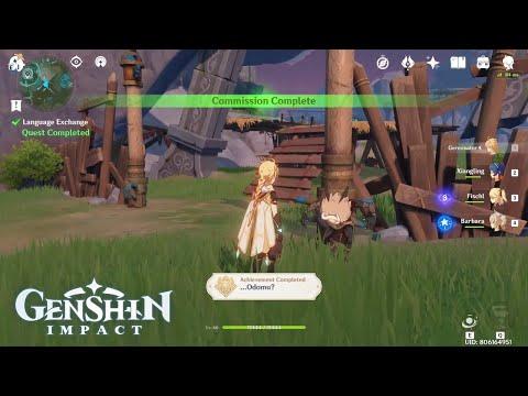 Genshin Impact Unlock The Odomu Achievement Youtube