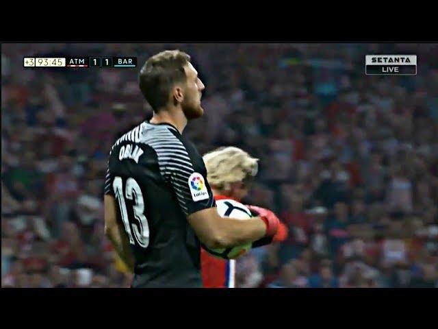 JAN OBLAK VS. FC BARCELONA | GOALKEEPER SAVES | LA LIGA | 1-1 | 14/10/17 | HD |