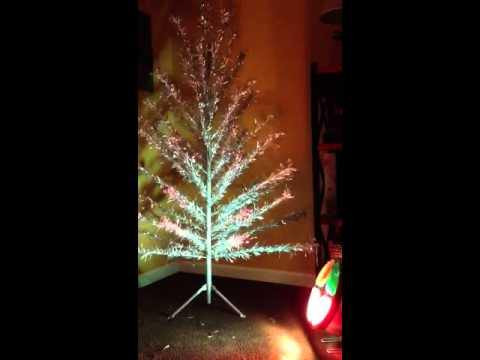 Rotating Color Wheel Vintage Aluminum Christmas Tree Youtube