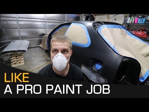 Throwing Down Epoxy Primer - How To Paint Car at Home Series Step #4
