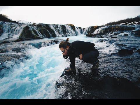 ICELAND VLOG: CRYSTAL BLUE WATERFALL BRÚARFOSS