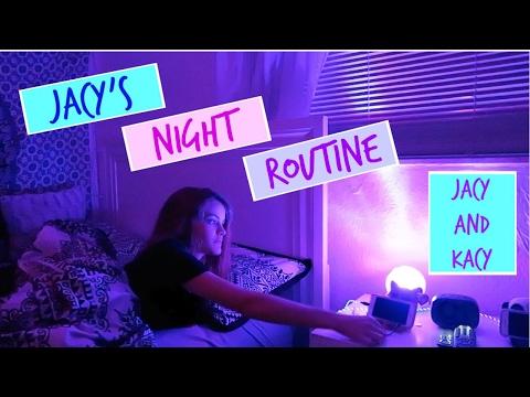 Jacy's School Night Routine 2017 ~ Jacy and Kacy