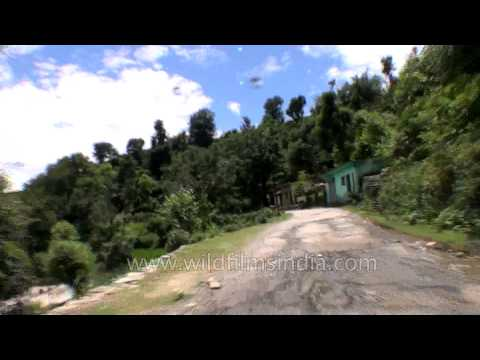 Driving through the hills of Garhwal