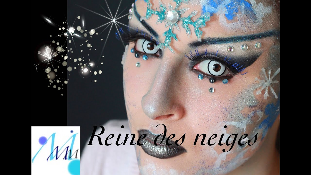 maquillage artistique reine des neiges youtube. Black Bedroom Furniture Sets. Home Design Ideas