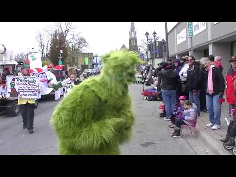 The Grinch at The Christmas Parade